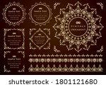 vintage ornament set. flourish... | Shutterstock .eps vector #1801121680