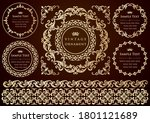 vintage ornament set. flourish... | Shutterstock .eps vector #1801121689