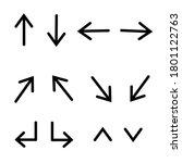 arrows collection icon concept...   Shutterstock .eps vector #1801122763