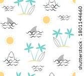 Hand Drawing Sea Icons Seamless ...