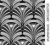 art deco pattern. vector black... | Shutterstock .eps vector #1801160713