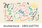various doodle arrows.... | Shutterstock .eps vector #1801165753