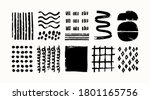 various sketchy doodle shapes... | Shutterstock .eps vector #1801165756