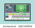 video editing screen display...