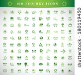 eco icons set   isolated on... | Shutterstock .eps vector #180119450