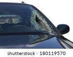 broken windscreen at black car... | Shutterstock . vector #180119570