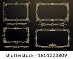 set of art deco frames and... | Shutterstock .eps vector #1801223809