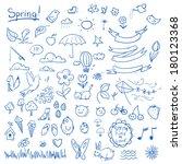 Spring Sketch Set. Simple...