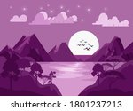 brebes indonesia  august 24... | Shutterstock .eps vector #1801237213
