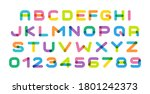 colorful letters set. bright... | Shutterstock .eps vector #1801242373