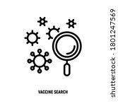 vaccine search thin line icon.... | Shutterstock .eps vector #1801247569