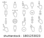 line scroll gesture icons for...