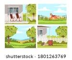 village lifestyle semi flat...   Shutterstock .eps vector #1801263769