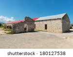 Ruined and restored warehouse buildings, Falmouth, Jamaica - stock photo