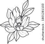 flower art work design... | Shutterstock .eps vector #1801281103