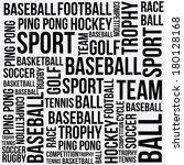 sports words design over white... | Shutterstock .eps vector #180128168
