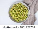 Ripe Green Gooseberry Berry In...