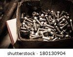 Screws in a workshop - stock photo