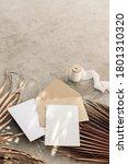 summer boho wedding stationery... | Shutterstock . vector #1801310320