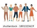 set of young men and women... | Shutterstock .eps vector #1801323619
