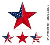 red five pointed star isolated... | Shutterstock .eps vector #180133073