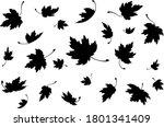 maple leaves. autumn background ... | Shutterstock .eps vector #1801341409