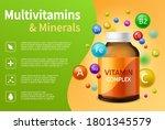 Vitamin Complex. Realistic...