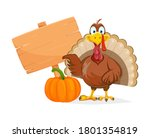 happy thanksgiving day. funny... | Shutterstock .eps vector #1801354819