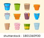Empty Bucket. Metal Plastic An...