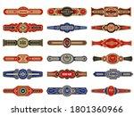cigar badges. vintage labels... | Shutterstock .eps vector #1801360966