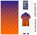 orange gradient geometry shape. ... | Shutterstock .eps vector #1801408729