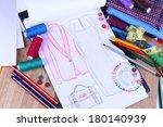 fashion designer close up | Shutterstock . vector #180140939