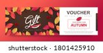 autumn gift promotion coupon... | Shutterstock .eps vector #1801425910