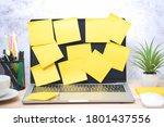 Yellow post note paper  memo...
