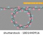 christmas lights garlands.... | Shutterstock .eps vector #1801440916