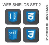 vector collection of css web... | Shutterstock .eps vector #180145208