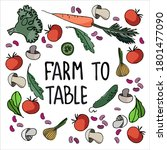healthy farm food concept.... | Shutterstock .eps vector #1801477090