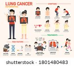 lung cancer infographic .vector ...   Shutterstock .eps vector #1801480483