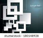background with 3d squares. | Shutterstock .eps vector #180148928