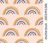 colorful rainbow seamless... | Shutterstock .eps vector #1801491286