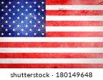 usa flag on grunge paper | Shutterstock . vector #180149648