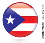 puerto rico flag button | Shutterstock .eps vector #180149714