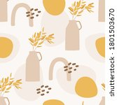 seamless pattern. autumn yellow ...   Shutterstock .eps vector #1801503670