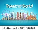 travel around the world vector... | Shutterstock .eps vector #1801507870