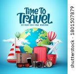 time to travel the world vector ... | Shutterstock .eps vector #1801507879