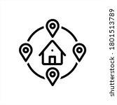 vector black line icon for...   Shutterstock .eps vector #1801513789