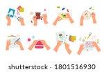 creative handmade craft set....   Shutterstock .eps vector #1801516930