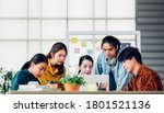group of asian ux developer and ...