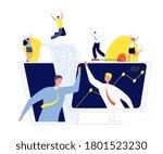 online business agreement.... | Shutterstock .eps vector #1801523230