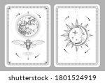 modern magic witchcraft taros... | Shutterstock .eps vector #1801524919